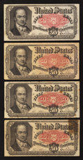 Fractional Currency:Fifth Issue, Four Fr. 1381 50¢ Fifth Issue Notes Very Good or Better.. ...(Total: 4 notes)