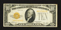Small Size:Gold Certificates, Fr. 2400 $10 1928 Gold Certificate. Very Fine+.. ...