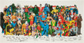 Memorabilia:Poster, History of the DC Universe Poster (DC, 1987)....