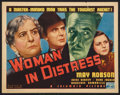 "Movie Posters:Drama, Woman in Distress (Columbia, 1937). Title Lobby Card (11"" X 14"").Drama.. ..."
