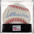 Baseball Collectibles:Balls, Ted Williams Single Signed Baseball, PSA Mint 9. ...