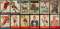Hockey Cards:Lots, 1953 Parkhurst, 1955 Parkhurst and 1954 Topps Hockey Collection(126). ...