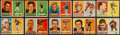 Football Cards:Sets, 1957 Topps Football Near Set (153/154) With Starr, Unitas and Hornung. ...