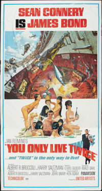 """You Only Live Twice (United Artists, 1967). Three Sheet (41"""" X 81""""). James Bond"""