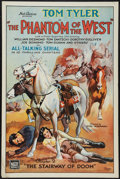"Movie Posters:Serial, The Phantom of the West (Mascot, 1931). One Sheet (27"" X 41""). Flat Folded. Chapter 2 -- ""The Stairway of Doom."" Serial.. ..."