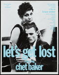 "Movie Posters:Documentary, Let's Get Lost (Zeitgeist, 1988). Promotional Poster (20.25"" X 25.5""). Documentary.. ..."