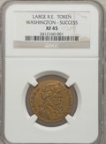 Colonials: , Undated MEDAL Washington Success Medal, Large Size, Reeded EdgeXF45 NGC. NGC Census: (1/1). PCGS Population (1/25). (#78...