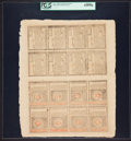 Colonial Notes:Rhode Island, Rhode Island July 2, 1780 Complete Double Sheet of Sixteen PCGSAbout New 53PPQ.. ... (Total: 1 sheet)