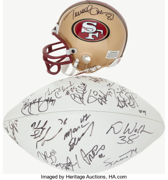 the best attitude 7f8c8 14084 Late 1990's San Francisco 49ers Multi Signed Football and ...