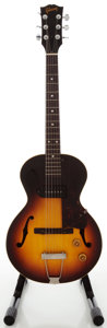 Musical Instruments:Electric Guitars, 1958 Gibson ES-140T Sunburst Semi-Hollow Body Electric Guitar,Serial #T5512 10....