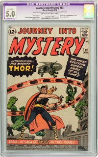 Journey Into Mystery #83 (Marvel, 1962) CGC Apparent VG/FN 5.0 Moderate (P) Cream to off-white pages