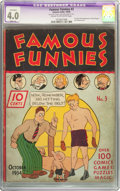 Platinum Age (1897-1937):Miscellaneous, Famous Funnies #3 (Eastern Color, 1934) CGC Apparent VG 4.0 Slight(A) Cream to off-white pages....