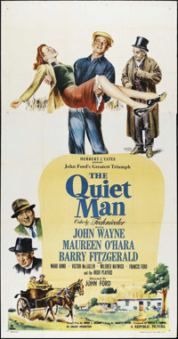"The Quiet Man (Republic, 1952). Three Sheet (41"" X 81""). Drama"