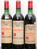 Red Bordeaux, Chateau Petrus 1970 . Pomerol. 1ts, 1vhs, 1hs, 1bsl, 1cc,different importers. Bottle (3). ... (Total: 3 Btls. )