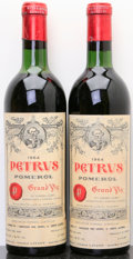 Red Bordeaux, Chateau Petrus 1964 . Pomerol. 1bn, 1vhs. Bottle (2). ...(Total: 2 Btls. )