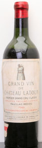 Chateau Latour 1949 Pauillac mtls, ll, lscl, good color Bottle (1)