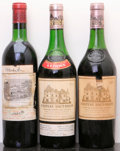 Red Bordeaux, Chateau Haut Brion. 1966 Pessac-Leognan 4cm, tal Bottle (1). 1970 Pessac-Leognan 5.5cm, bsl Bottle (1). Ch... (Total: 3 Btls. )