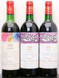 Red Bordeaux, Chateau Mouton Rothschild. Pauillac. 1970 vhs, lgsl Bottle(1). 1988 Bottle (2). ... (Total: 3 Btls. )