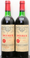 Red Bordeaux, Chateau Petrus 1975 . Pomerol. 1ts, 1vhs, 2wisl. Bottle (2).... (Total: 2 Btls. )
