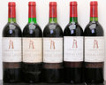 Red Bordeaux, Chateau Latour. Pauillac. 1979 ts, bsl Bottle (1). 1980 2bn,1lbsl, 2bsl, 1wisl Bottle (3). 1986 ts Bottle (... (Total: 5 Btls.)