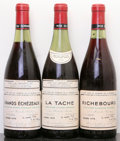 Red Burgundy, Grands Echezeaux . 1974 Domaine de la Romanee Conti lbsl,#004936 Bottle (1). La Tache . 1974 Domaine de ... (Total: 3Btls. )