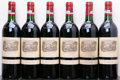 Red Bordeaux, Chateau Lafite Rothschild 1985 . Pauillac. 1bn, 1lbsl, 1bsl,1spc, 1sdc. Bottle (6). ... (Total: 6 Btls. )