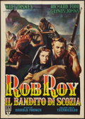 "Movie Posters:Adventure, Rob Roy, the Highland Rogue (RKO, 1954). Italian 2 - Foglio (39"" X55""). Adventure.. ..."