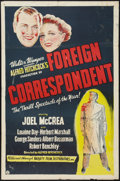 """Movie Posters:Hitchcock, Foreign Correspondent (Variety Film, R-1940s). One Sheet (27"""" X 41""""). Hitchcock.. ..."""