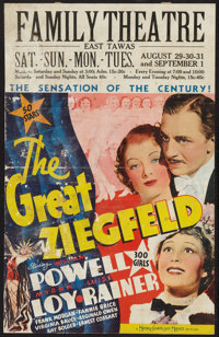 "The Great Ziegfeld (MGM, 1936). Window Card (14"" X 22""). Musical"