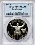 Modern Issues, 1996-P $1 Olympic/Paralympics Silver Dollar PR70 Deep CameoPCGS....