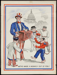 """World War II Poster by J. H. King (U.S. Government Printing Office, 1943). """"We've Made a Monkey Out of You,"""" P..."""