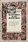 """Movie Posters:Documentary, The March of Time: History in the Making (20th Century Fox, R-1952). One Sheet (27"""" X 41""""). Documentary.. ..."""