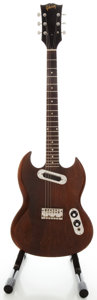 Musical Instruments:Electric Guitars, Early 1970's Gibson SG Walnut Solid Body Electric Guitar, Serial#627745....