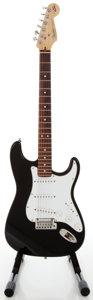 Musical Instruments:Electric Guitars, 1993 Fender Stratocaster USA 40th Anniversary Black Solid BodyElectric Guitar, Serial #N3126470....