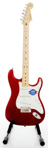Musical Instruments:Electric Guitars, 2011 Fender Stratocaster Candy Apple Red Solid Body ElectricGuitar, Serial #US11187305....