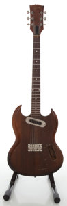 Musical Instruments:Electric Guitars, 1970's Gibson SG Walnut Solid Body Electric Guitar, Serial#962503....