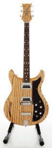 Musical Instruments:Electric Guitars, 1960's Kustom K-200 Natural Solid Body Electric Guitar, Serial#2041....