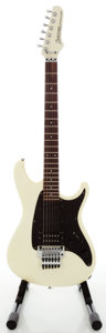 Musical Instruments:Electric Guitars, 1980's Ibanez Roadstar II Pearl White Solid Body Electric Guitar,Serial #H862252....