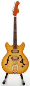 Musical Instruments:Electric Guitars, 1960's Hagstrom HoneyBurst Semi-Hollow Body Electric Guitar, Serial#714684....