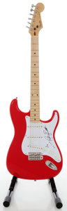 Musical Instruments:Electric Guitars, Circa 1990's Fender Stratocaster MIJ Red Solid Body Electric Guitar, Serial #H034083....