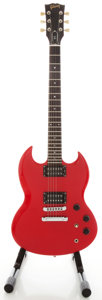 Musical Instruments:Electric Guitars, 1985 Gibson SG Red Solid Body Electric Guitar, Serial #82525581....