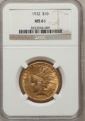 Indian Eagles: , 1932 $10 MS61 NGC. NGC Census: (3373/46137). PCGS Population(2571/38903). Mintage: 4,463,000. Numismedia Wsl. Price for pr...