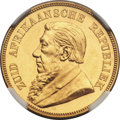 South Africa, South Africa: Republic gold Proof Pond 1892,...