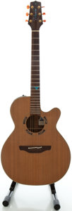 Musical Instruments:Acoustic Guitars, 1994 Takamine Santa Fe PSF-45C Natural Acoustic Electric Guitar, Serial #94090262....