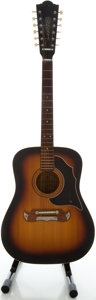 Musical Instruments:Acoustic Guitars, 1969 Framus Texan Sunburst 12 String Acoustic Guitar, Serial#03014....