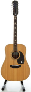 Musical Instruments:Acoustic Guitars, Circa Late 1970's Epiphone FT-365 Natural 12 String Acoustic Guitar...