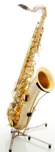 Musical Instruments:Horns & Wind Instruments, Vintage C.G. Conn Brass Tenor Saxophone, Serial #M201149....