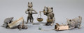 Paintings, FOUR AUSTRIAN COLD-PAINTED BRONZE FIGURES: CATS AND MICE . Circa 1900 . 2-5/8 inches high (6.7 cm) (tallest). ... (Total: 4 Items)