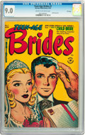 Golden Age (1938-1955):Romance, Teen-Age Brides #1 File Copy (Harvey, 1953) CGC VF/NM 9.0 Cream tooff-white pages....