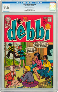 Date With Debbi #6 Savannah pedigree (DC, 1969) CGC NM+ 9.6 Off-white to white pages